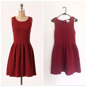 """Anthropologie """"Ganni"""" Noon & Night Wine Red Dress"""
